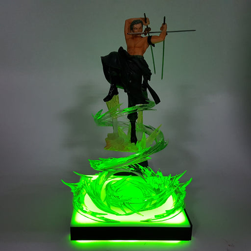 One Piece Roronoa Zoro Santoryu Green Dragon Twister DIY 3D Light Lamp