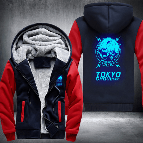 Tokyo Ghoul Kaneki Ken Zipper Cosplay Fashion Luminous Hooded Jacket - Konoha Stuff