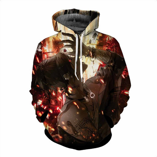 Tokyo Ghoul Uta No Face Cool Sun Scleral Greek Tattoo Hoodie