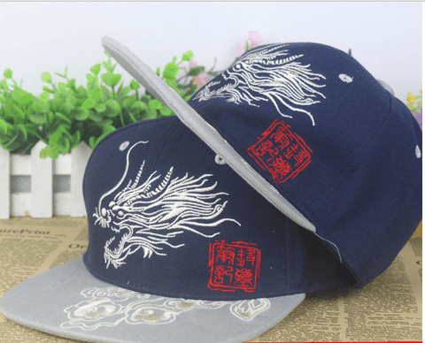 Tomb Notes Daomu Biji Dragon Embroidery Hip Hop Hat Cap Snapback - Konoha Stuff