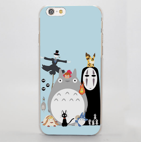 Totoro No Face And Kakashi No Kabu iPhone 4 5 6 7 Plus Case - Konoha Stuff