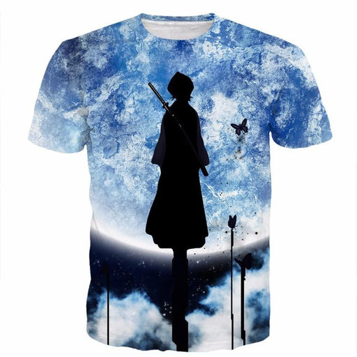 Unique Bleach Rukia Kuchiki Character Isolated Soul Reaper 3D T-shirt - Konoha Stuff