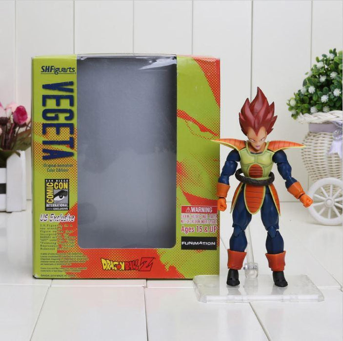 Vegeta Red Hair Battle Molding Movable Articulated Action Figure - Saiyan Stuff