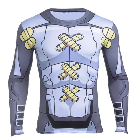 WarGreymon Armor Digimon Long Sleeves Athletic Compression 3D Shirt