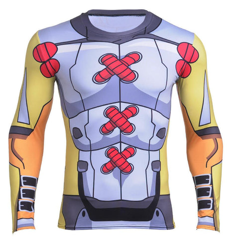 WarGreymon Armor Digimon Long Sleeves Workout Compression 3D Shirt