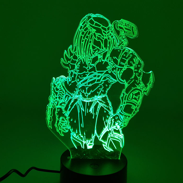 The Predator Alien Color Changing 3D Illusion Acrylic Lamp