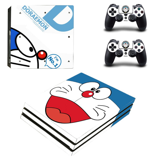 Doraemon Smiley Face Potent Friendly Chubby PS4 Pro Skin
