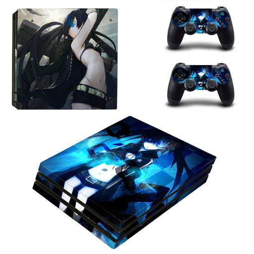 Black Rock Shooter Mato Kuroi Vibrant Design PS4 Pro Skin