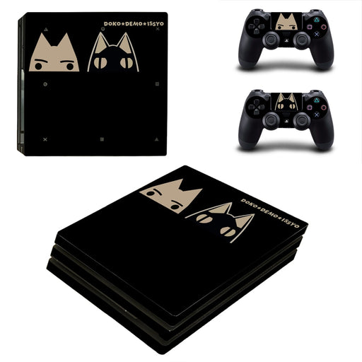 Doko Demo Issyo Sony Cat Black Lovely Design PS4 Pro Skin