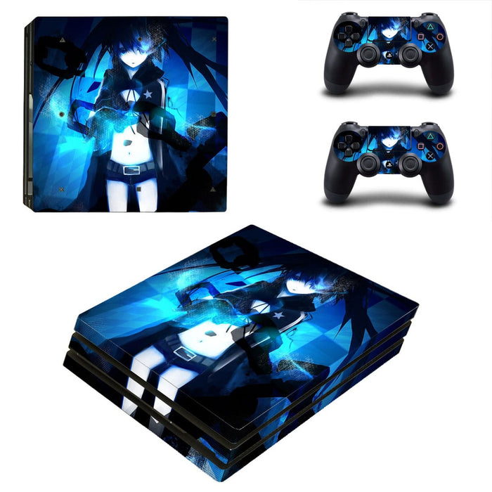 Black Rock Shooter Mato Kuroi Vibrant Dope PS4 Pro Skin