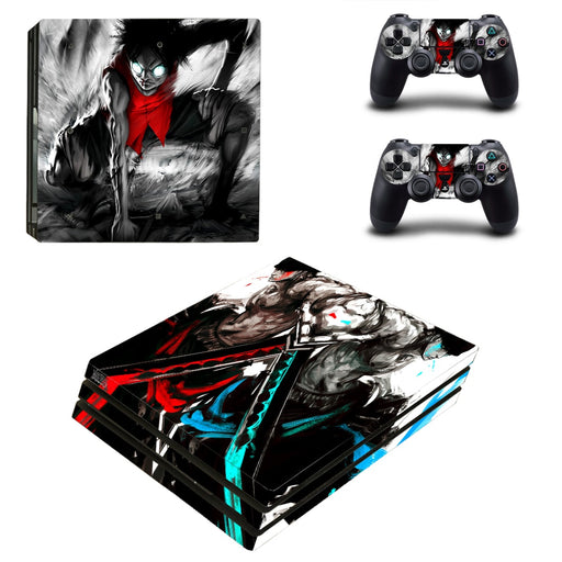 One Piece Anime Luffy Zoro Aggressive Dope PS4 Pro Skin