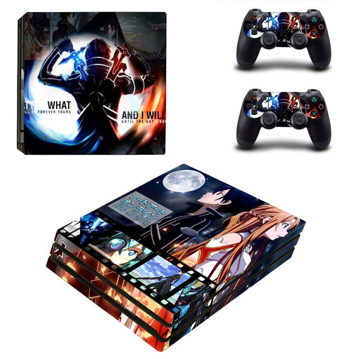 Sword Art Online Anime Awesome Poster Vibrant PS4 Pro Skin
