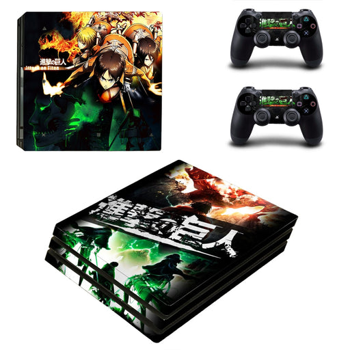 Attack On Titan Anime Eren Team Fighting Cool PS4 Pro Skin