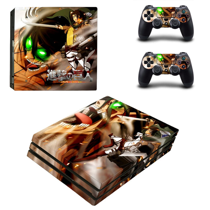 Attack On Titan Anime Eren Powerful Titan Cool PS4 Pro Skin