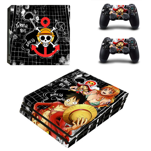 One Piece Anime Luffy Nami Chopper Lovely Cute PS4 Pro Skin