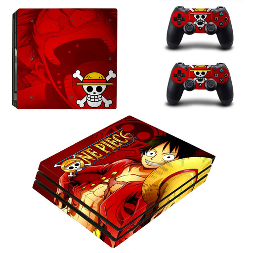 One Piece Anime Monkey D. Luffy Pirate King Red PS4 Pro Skin