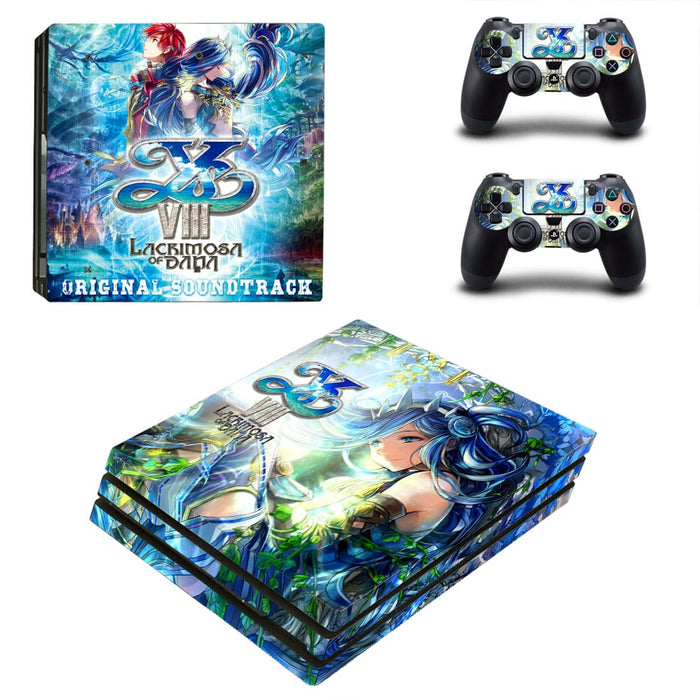 Lacrimosa of Dana Adol and Dana Vibrant Design PS4 Pro Skin
