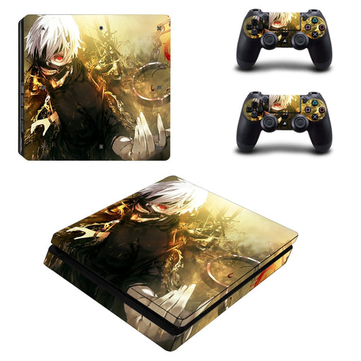 Tokyo Ghoul Anime Kaneki Fighting Bright Dope PS4 Slim Skin