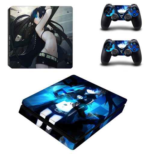 Black Rock Shooter Mato Kuroi Vibrant Design PS4 Slim Skin