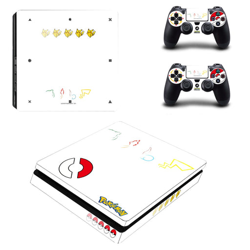 Pokemon Anime Impressive Symbols Creative Dope PS4 Slim Skin