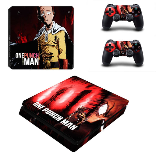 One-Punch Man Anime Saitama Powerful Hero Dope PS4 Slim Skin
