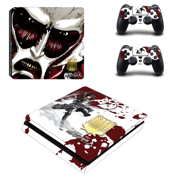 Attack On Titan Anime Mikasa Ackerman Fighting PS4 Slim Skin