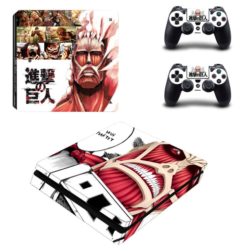 Attack On Titan Anime Bertolt Giant Titan Dope PS4 Slim Skin