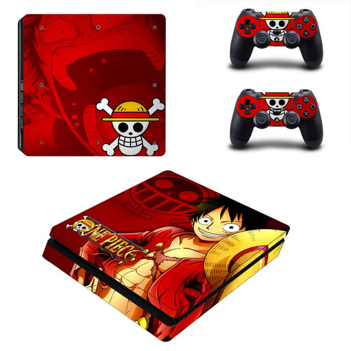 One Piece Anime Monkey D. Luffy Pirate King Red PS4 Slim Skin