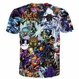 Yu-Gi-Oh! Fantastic Powerful Cards Of All Type Anime 3D T-shirt - Konoha Stuff - 2