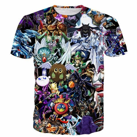 Yu-Gi-Oh! Fantastic Powerful Cards Of All Type Anime 3D T-shirt - Konoha Stuff - 1