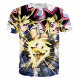Yu-Gi-Oh! Monster Cards Game Millenium Puzzle Yami Yugi Anime T-shirt - Konoha Stuff - 1