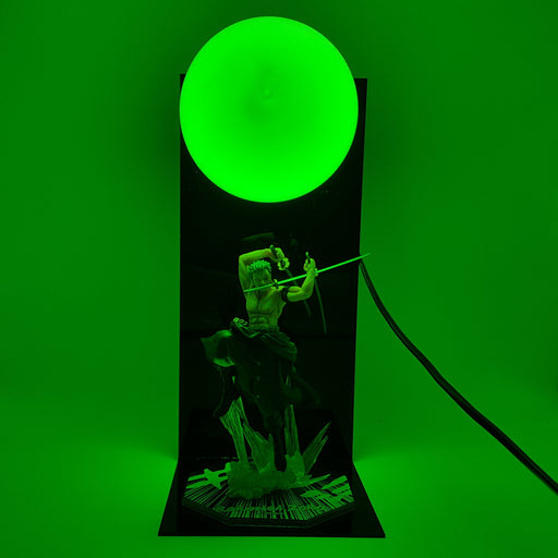 One Piece Roronoa Zoro Santoryu Dragon Twister Green DIY 3D Light Lamp
