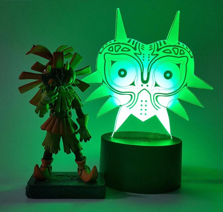 The Legend of Zelda Skull Kid Majoras Mask Color Changing 3D Illusion Acrylic Lamp