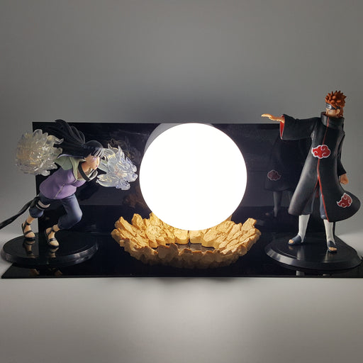 Hinata Hyuga Gentle Step Twin Lion Fists Pain Nagato White DIY 3D Light Lamp