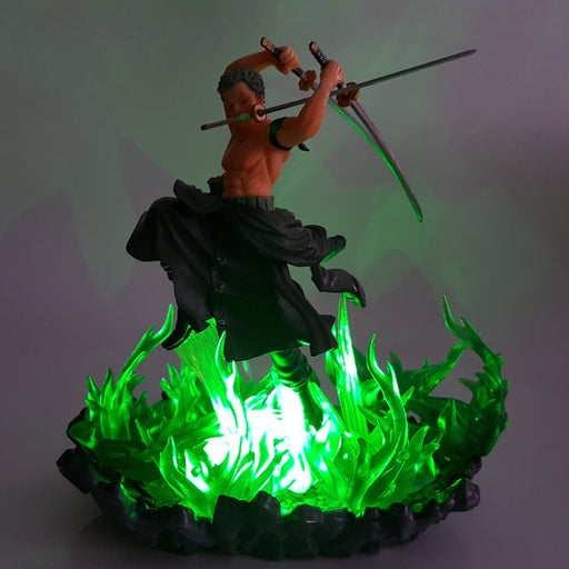 One Piece Roronoa Zoro Powerful Great Dragon Twister Green DIY 3D Light Lamp