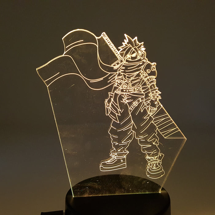 Final Fantasy VII Cloud Strife Color Changing 3D Illusion Acrylic Lamp