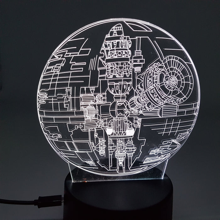Star Wars Death Star Color Changing 3D Illusion Acrylic Lamp