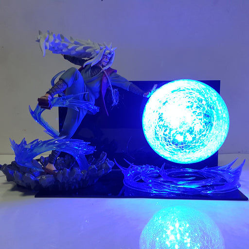 Jiraiya Legendary Sannin Giant Rasengan Blue Flash Ball DIY 3D LED Light Lamp