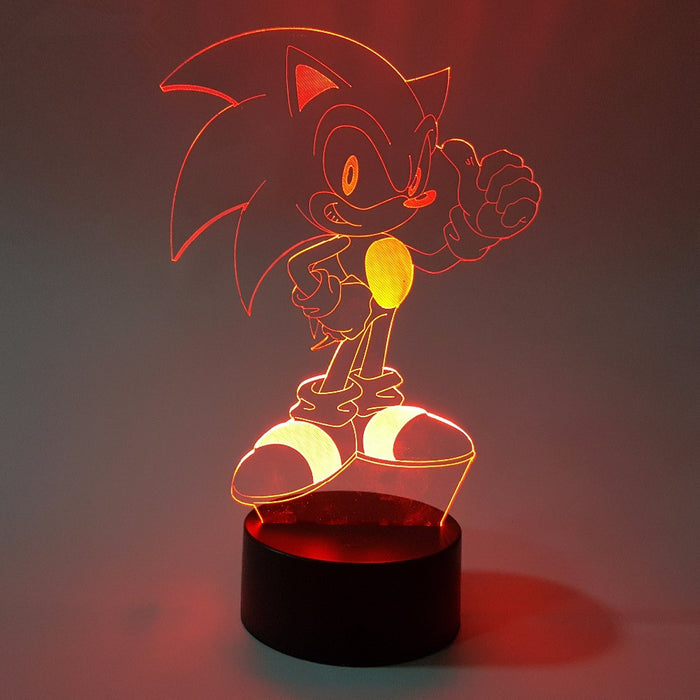 Sonic the Hedgehog Color Changing 3D Illusion Acrylic Lamp