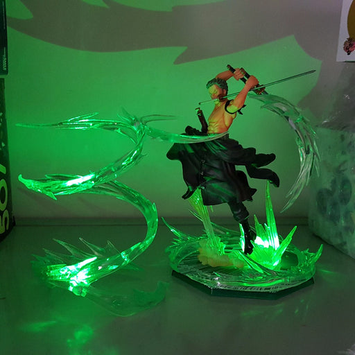 One Piece Pirate Zoro Powerful Great Dragon Twister Green DIY 3D Light Lamp
