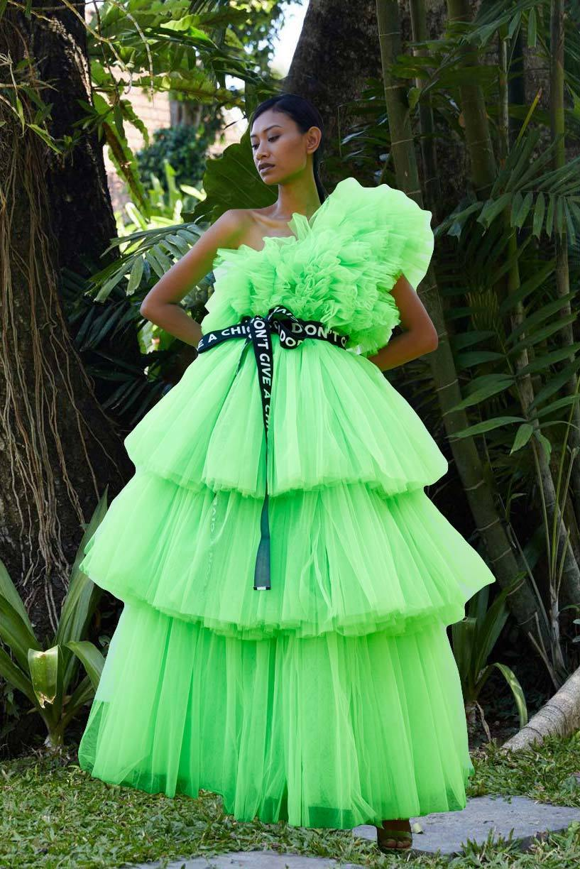 Green Fluo Tulle Dress - House of Mua Mua