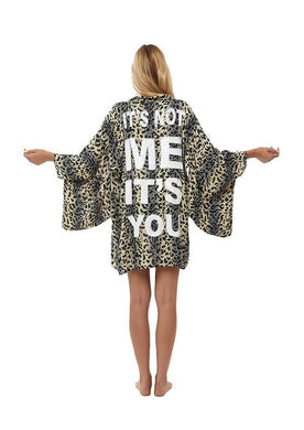 Hand-beaded short kimono It's Not Me It's You
