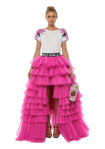 "Tulle short/long skirt ""I Don't Give A Chic"""