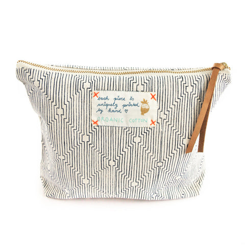 *My blue route* Organic Cotton Pouch
