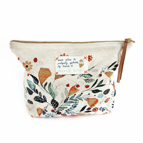 *My flower garden* Organic Cotton Pouch