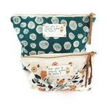 *My flower garden* Organic Cotton Pouch - Lili Pepper