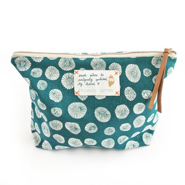 *My green daisy* Organic Cotton Pouch