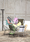 *WOVEN CHAIR GOLD * Handwoven metal chair - Lili Pepper