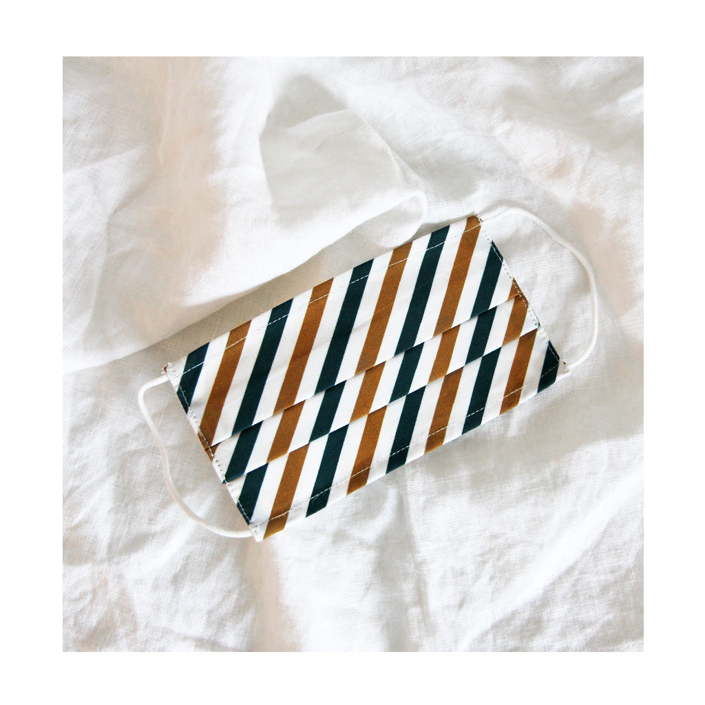 *STRIPE GREEN* Face mask