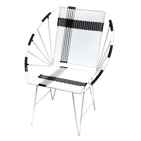 *WOVEN CHAIR WHITE* Handwoven metal chair